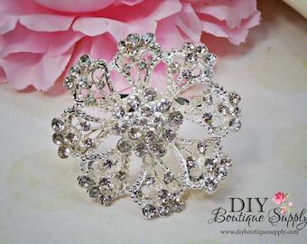 Wedding FLower Crystal Brooch Pin Rhinestone Brooch - Wedding Bridal Accessories - Brooch Bouquet - Cake Brooch Sash Pin 55mm 525198