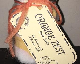 Orange Zest 16oz Bath Salt