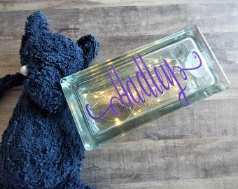 Personalized glass light box/ glass night light box/ personalized night light box/ night light box