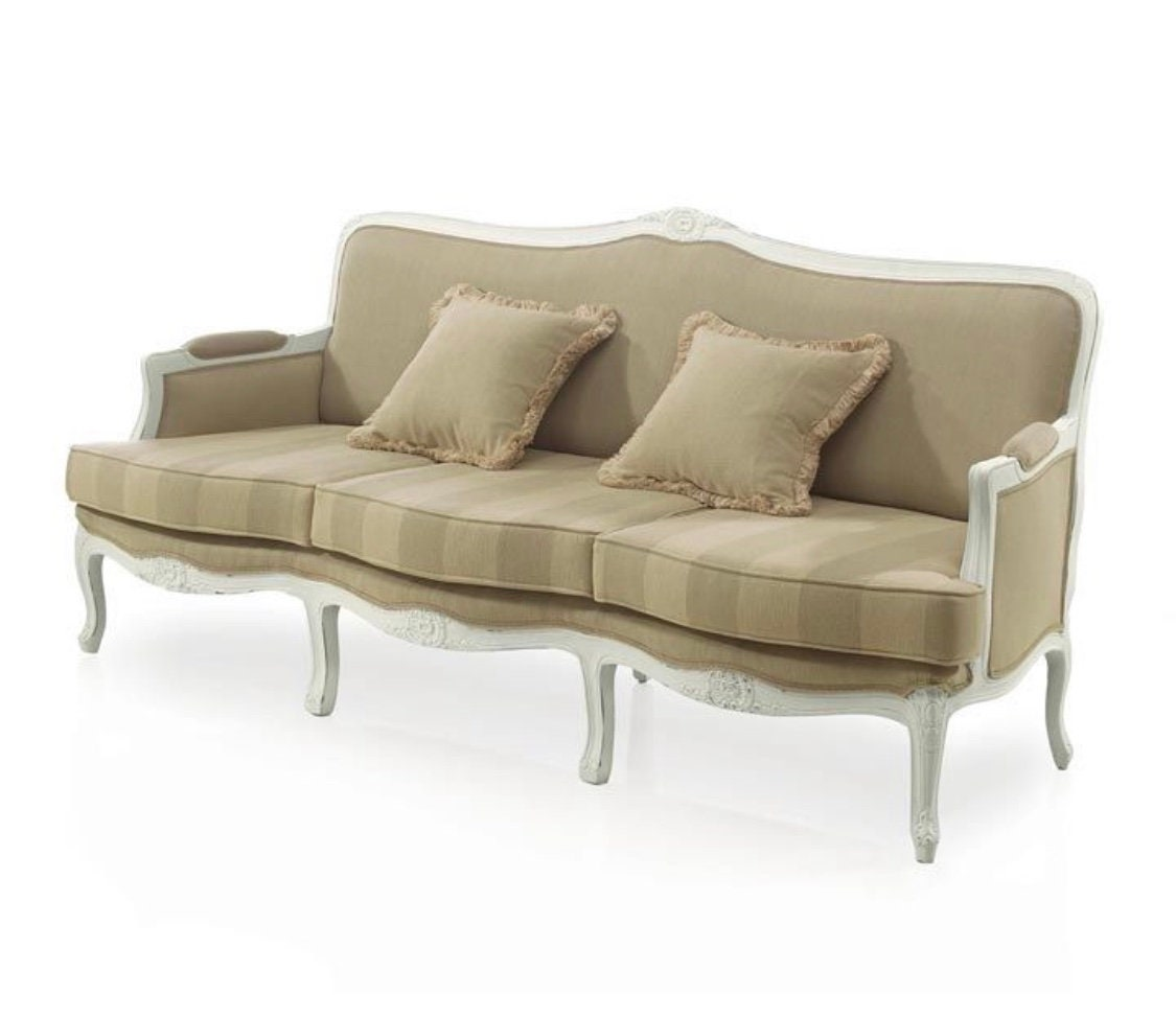 Chalet French Country Three Seater Sofa Custom Made Bespoke Upholstered Seating By Millmax