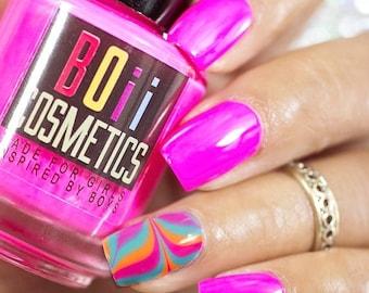 magenta nail polish,  neon nail polish - Guilty in magenta