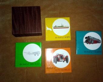"Vintage 1968 Time Life Classics Of Transportation Books Set of 4 (6""x 6"")"