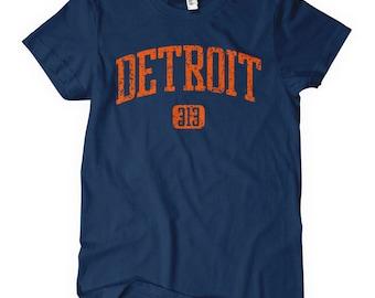 Women's Detroit 313 T-shirt - S M L XL 2x - Ladies Detroit Tee - 4 Colors