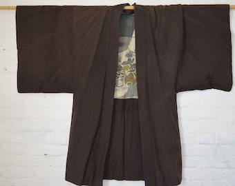 Vintage Japanese old silk Kimono,