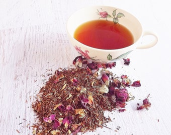 Cherry Rose Rooibos, Loose Leaf Tea, Cherry Rose Tea, Caffeine Free Tea, Rooibos