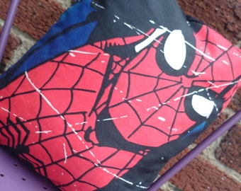Spiderman marvel comic book 14x14 Pillow Cushion Cover Upcycled Tshirts Eco