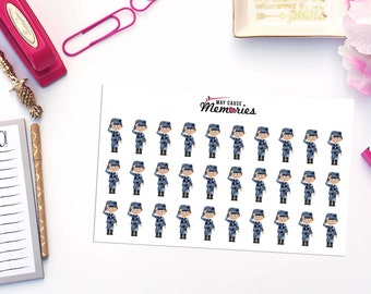 MILITARY BRANCH INSPIRED Paper Planner Stickers