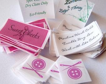 Custom Fabric Labels - Tags Sew On