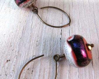 PURPLE SHIMMER Earring Murano Glass Earrings