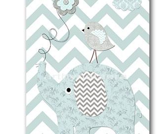 Elephant Nursery Baby Boy Nursery Baby Nursery Decor Digital Download Art Printable Digital Download Print 8x10 11X14 INSTANT DOWNLOAD art