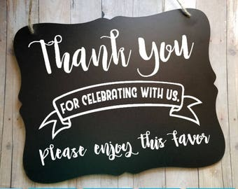 Thank You For Sharing This Special Day Wedding Sign - Reception Sign - Wedding Decor - Wedding Accessories - Favor Sign