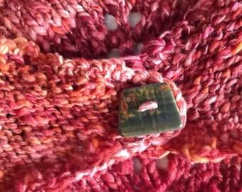Old Red Barn, cowl, handspun, handknit, polypay wool