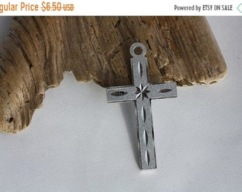 Clearance Sale - Machine Engraved Silver Plated Cross
