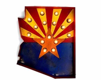 Arizona State Flag Marquee