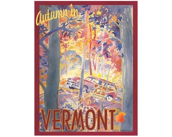 Autumn in Vermont Travel Poster