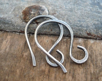 Twinkle Sterling Silver Earwires - Handmade. Handforged. Oxidized and polished