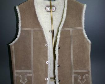 Men's Genuine Leather Vest, Size 42.  Hecho En Mexico.  Rancher's Vest.
