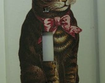 Vintage Kitty Light Switch Cover