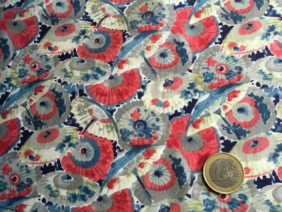 English Pima lawn cotton fabric, priced per 25cm. Japanese inspired