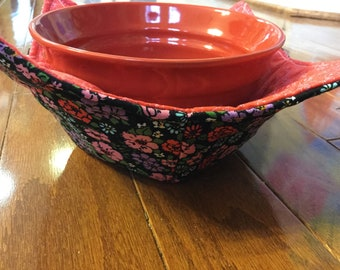 Soup Cozy, Bowl Cozy, Soup Holder, Bowl Holder, Microwave Bowl Cozy, Gift for Women, Gift for Friends, Gift for Coworker, Stocking Stuffer