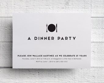 Dinner Invitation, Company Dinner, Corporate Dinner, Anniversary Dinner, Company Event, Corporate Event, Fundraiser Invite