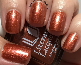 Afterglow - Full Sized Burnt Orange Metallic Nail Polish