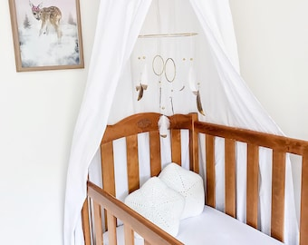 White Canopy, Reading Nook, Play Corner, Cot Canopy, Teepee