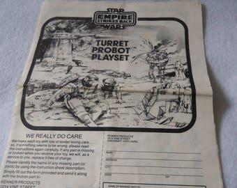 Star Wars Turret Probot Playset Instruction Booklet