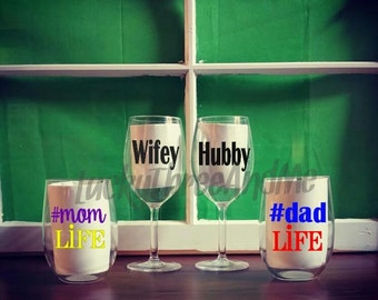 Personalized Stem & Stemless Wine Cups