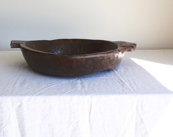 Wooden Bowl Large Bowl Hand Hewn Bowl Wooden Tray Solid Teak