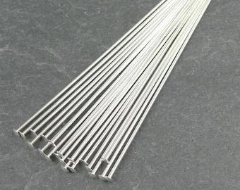 """20 STERLING SILVER Headpins - 22 Gauge 2"""" Sterling Head Pin Findings - Sterling Findings 2 Inch 22 g Pins"""