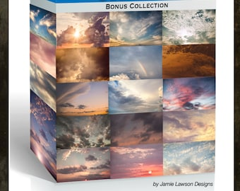 Dramatic Sky Overlay Collection with Bonus Skies and PS Brushes