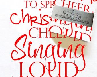 Best Way to Spread Christmas Cheer Tea Towel
