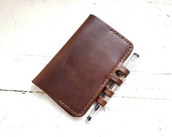 Horween leather moleskine cover, cahier moleskine cover, pocket moleskine cahier notebook, leather cover, refillable journal,