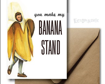 Greeting Card Arrested Development Valentines Day Card George Michael Bluth Banana Stand