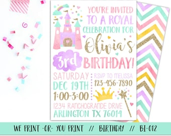 Princess invitations etsy princess invitation princess birthday invitation princess party invitation royal birthday invitation princess filmwisefo Image collections