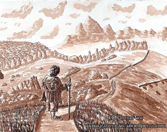 The Road Goes Ever On - Limited Edition Fine Art Giclee Print - The Hobbit - LOTR