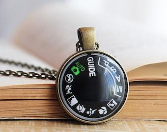Camera Dial Pendant - Camera Dial Necklace - Gift for Photographer - Photographer Gift -Camera Jewelry Photography Necklace -Jewelry
