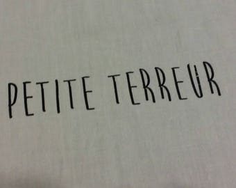 "Fusible fabric pattern ""Little terror"""