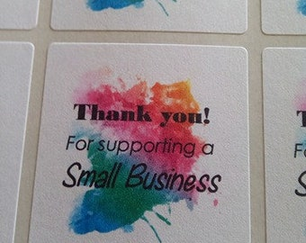 Thank you for supporting a small business stickers - multicolour