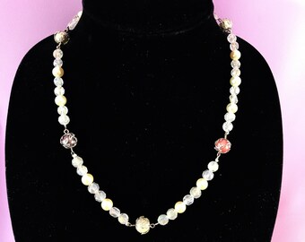 pearl Filigree necklace, filigree necklace, pearl necklace, pearl handmade necklace, pearl jewelry, Silver filigree necklace, Pearl jewelry.