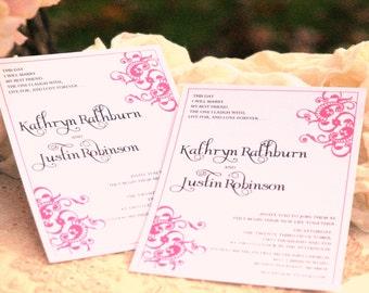 Fancy Flourish - Wedding Invitations