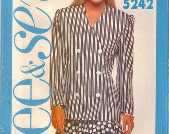 CLEARANCE Jacket Pattern Two Tiered Skirt Pattern  Sizes 12 - 16  Uncut  See & Sew 5242