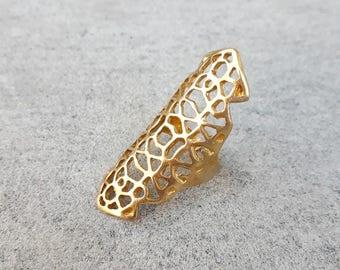 Ring golden Sparta, golden brass ring, gold ring, ring, adjustable ring, boho ring, jewelery for women, jewelery, gift for her