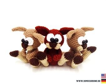 Little kangaroos crochet pattern amigurumi