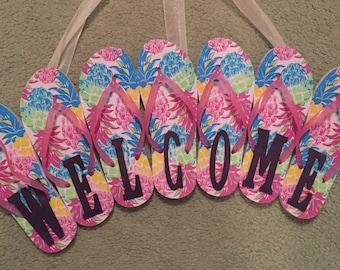 Welcome Flip-Flop Sign