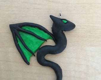 Tiny Green Dragon Charm