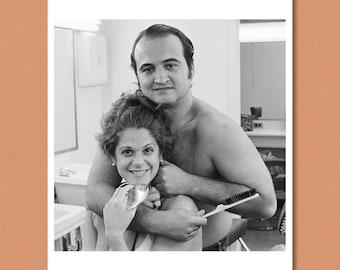 JOHN BELUSHI + Gilda RADNER - 'Saturday Night Live', 1976 - Giclée/Photo print