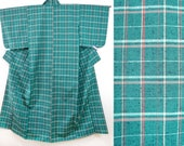 Green tartan checkered ki...
