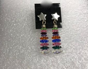 Swarovski Crystal Christmas Tree Earrings. Holiday Earrings, Swarovski, Crystal Earring, Dangle Earrings